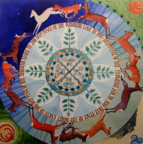 shamanic Mandala - Deer for finding stillness 15.5.15