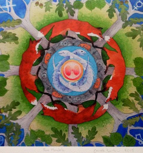 Shamanic Mandala - facing fear 15.mar.15